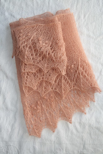 S's pink Shawl