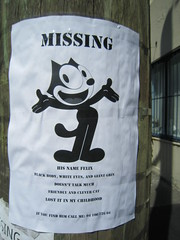 Missing: Felix the Cat (Sweet One) Tags: street new art wales cat poster missing felix south sydney australia nsw clever