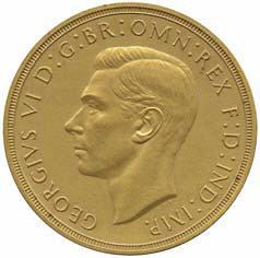 1937 George VI gold matt proof obverse