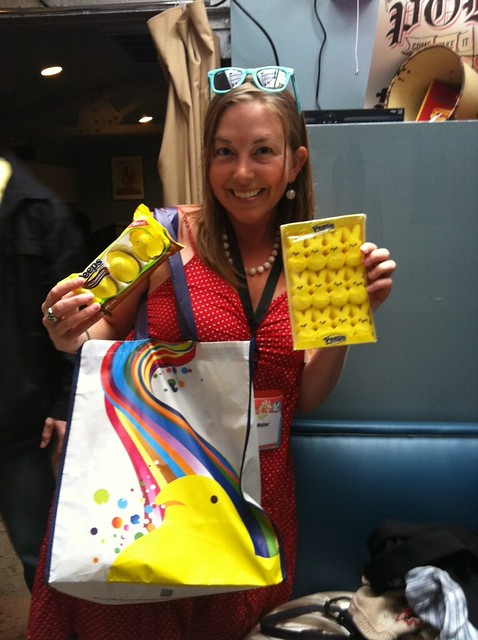 Okay, maybe best SXSW moment ever! Peeps gift bag from @foodspotting!!!