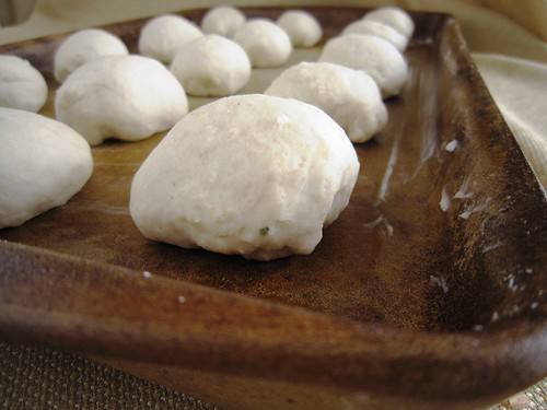 Shape into rolls, take three