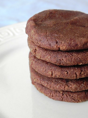 Raw Chocolate Almond Butter Cookies