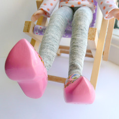 Dutch wooden clogs for Blythe in Pink!