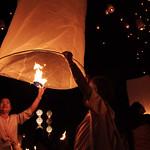 Wish Lantern of Loy Krathong Festival