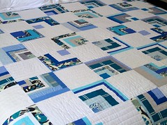 Blue Bento (One Flew Over...) Tags: blue white liberty grey bentobox oneflewover konasolids quiltingbee beeimaginative