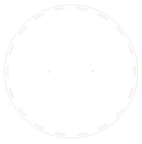 Contour disc for laser
