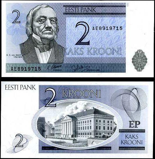 2 Krooni Estónsko 1992, P70