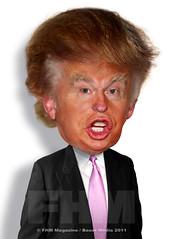 Donald Trump (RodneyPike) Tags: celebrity art illustration digital photomanipulation photoshop magazine photo media graphic humor manipulation donald bauer caricature pike trump fhm rodney rwpike