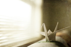 For Japan (Eugene's Likeness) Tags: blur texture window origami dof bokeh papercrane 35mmf14l forjapan