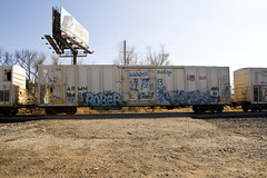 rober-ricks (Electric Funeral) Tags: railroad art up train bench graffiti midwest paint sac railcar traincar omaha graff freight rober ricks reefer councilbluffs armn benching skateallcities