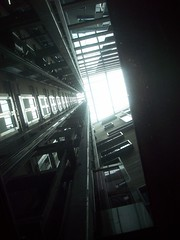. (danielnanreik) Tags: light dark scary shadows fear elevator heights shaft