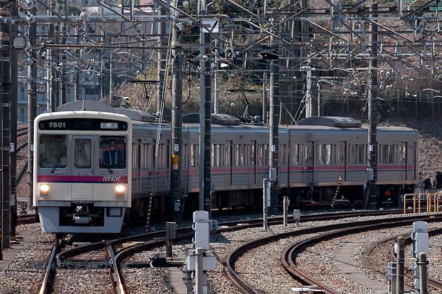 京王電鉄7000系 7201F 構内入換