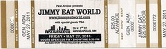 05/27/11 Jimmy Eat World @ First Avenue, Minneapolis, MN (Ticket)