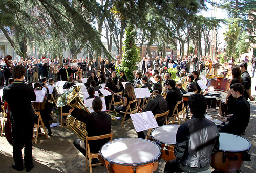 BANDA DE MÚSICA JJMM-ULE EN EL JARDÍN DE LAS ARTES 2011
