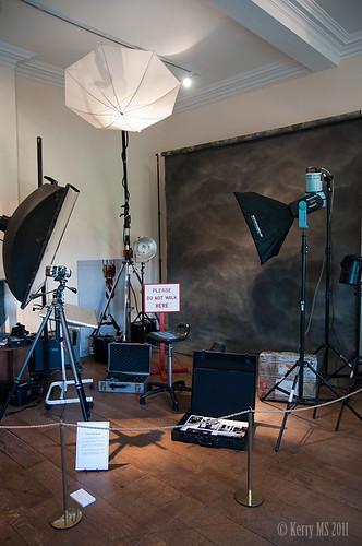 Lord Lichfield's studio setup