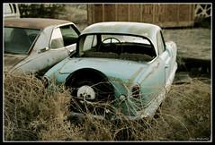 Blue Car.. (mokastet) Tags: auto blue usa green car america vintage nevada nash metropolitan nashmetropolitan mygearandme mygearandmepremium mokastet