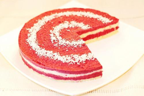 Cheesecake cu zmeura (raw)