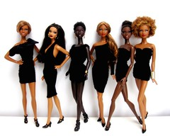 All my Mbili girls (Blythemaniaco) Tags: africa black face fashion de doll dress princess little south afro moda barbie 8 style walmart jeans sis mold princesa alvin exclusive basics picnik wal mart mueca ailey sudfrica mbili trichelle