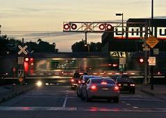 crossroads (Karol Franks) Tags: ca street city railroad usa night america losangeles google track crossing metro roadtrip socal pasadena bing goldline copyrighted okarol karolfranks aingworth pleasedonotuseimageswithoutmypermission 2014 karolfranksgmailcom