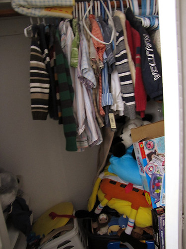 Project Simplify week 3 - In their closet before