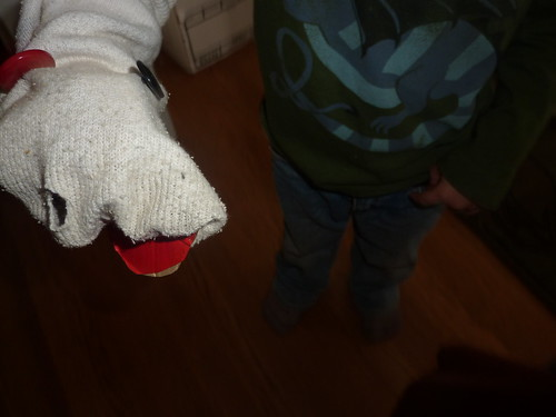 incredibly ratty sock puppet
