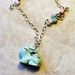 Easter bunny- Turquoise Bunny Necklace