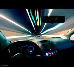 speed of light (- GD photography -) Tags: 2011 camaras construcciones d90 laspalmasdegc lugares marzo municipios nikon sigma1020 coche tunel luces velocidad car speed light carretera road conducir drive