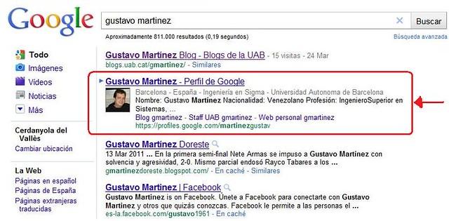 Google Profile Gustavo Martine