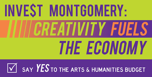 Advocacy campaign logo, Arts & Humanities, Montgomery County, Maryland