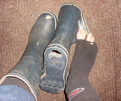 ashamed to go to school like this (lasseman92) Tags: broken wet socks out boot big sock toe hole boots bad wed rubber dirty holes holy smell terrible worn torn heel cry wellies hobo smelly hollow rubberboots stinky ragged tattered wornout holey inherited froozen coold holysock sockholes