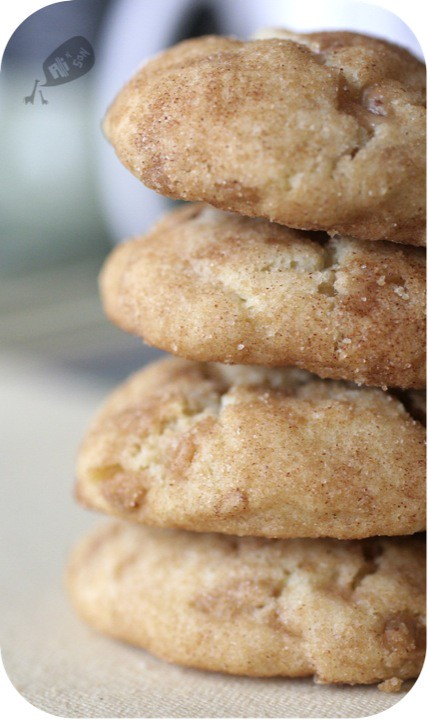 Toffee Snickerdoodle Cookies