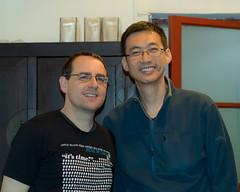 Guno and Sean at Dinner (PhotoSloth) Tags: china beijing guno privatedinner huatong seansafreed blacksesamekitchen