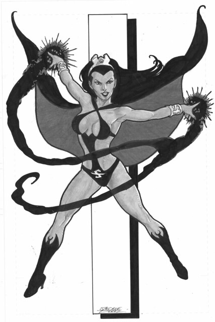 Shadow Lass commission by George Perez