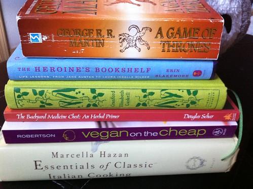 Books! Hazan, Roberton, Sckar, Gaskell, Blackmore, George A. A. Martin