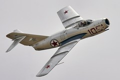 MiG-15 (mvonraesfeld) Tags: show california ca museum plane airplane airport fighter aircraft aviation air jet airshow russian warbird ussr chino cno planesoffame mig15 pof 2011 mikoyangurevich calaerofield img2843