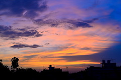 After life come death , death for new life again ! (Abhishek sengar) Tags: light monsoon clouds sunset magical place alive luminous spiritual life