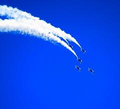 The Sky Is Not The Limit! (Chic Bee) Tags: airshow bluesky navyjets blueangels jets aircraft aerobatics davismonthanafb tucson arizona