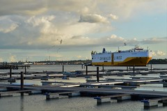 View at Southampton water. (mre1965) Tags: southampton dock solent fawley