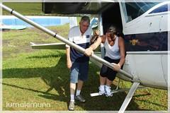 Treinando a saída do avião