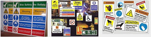 Safety Construction and Electrical Signs Picture