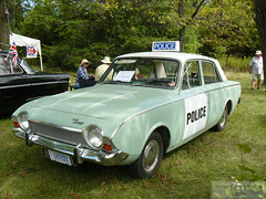 Vintage British Police Car? (Can Pac Swire) Tags: old ontario canada ford car police canadian corsair british preserved oakville 2010 britishcarday brontecreekprovincialpark madeingreatbritain vvintage