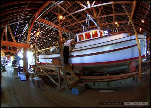 Inside Britannia Shipyard