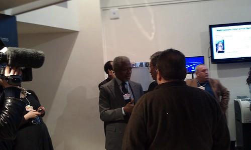 There's Kofi Annan #wef #davos
