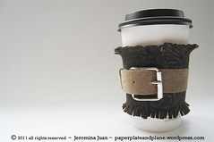 belted cup cozy fringe