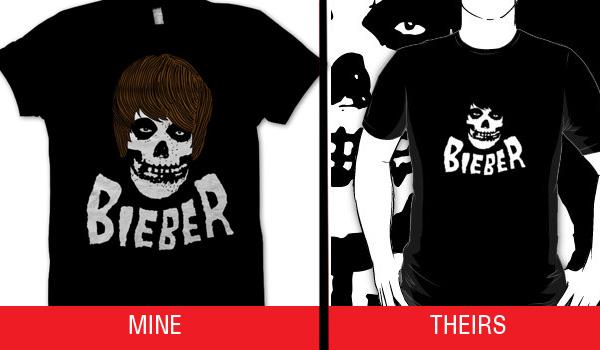 Bieber Misfits Ripoff