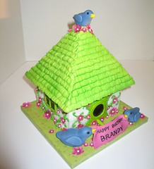 Bird House Cake (RDPJCakes) Tags: birds birthdaycake fondant buttercream bmwl birdhousecake rdpjcakes birthdaysmadewithlovecom