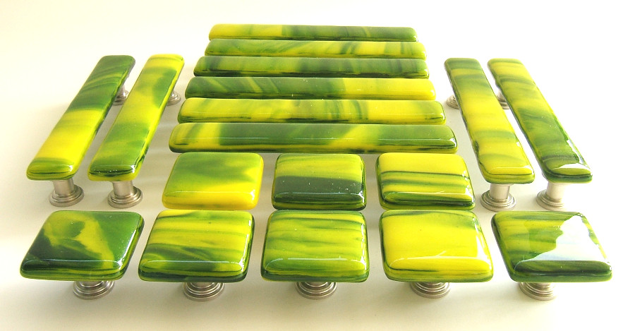Green Yellow Whisps Knobs and Pulls