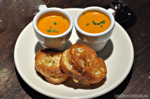 Car Valley Gouda Sliders and Muir Glen Tomato Soup at Corner Table ~ Minneapolis, MN