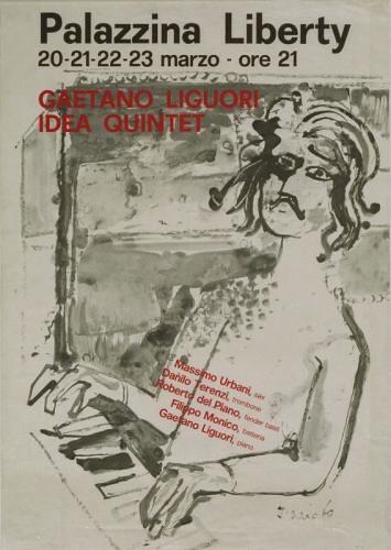 Dario Fo poster gaetano liquori idea quintet