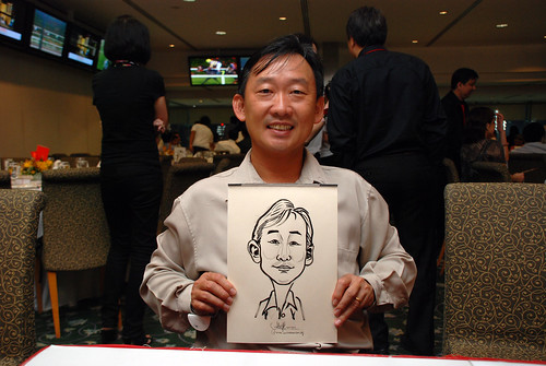 caricature live sketching for Thorn Business Associates Appreciate Night 2011 - 15